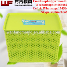 2017 Clothing storage bins plastic injection storage box mould with high quality plastic moldings for storage box