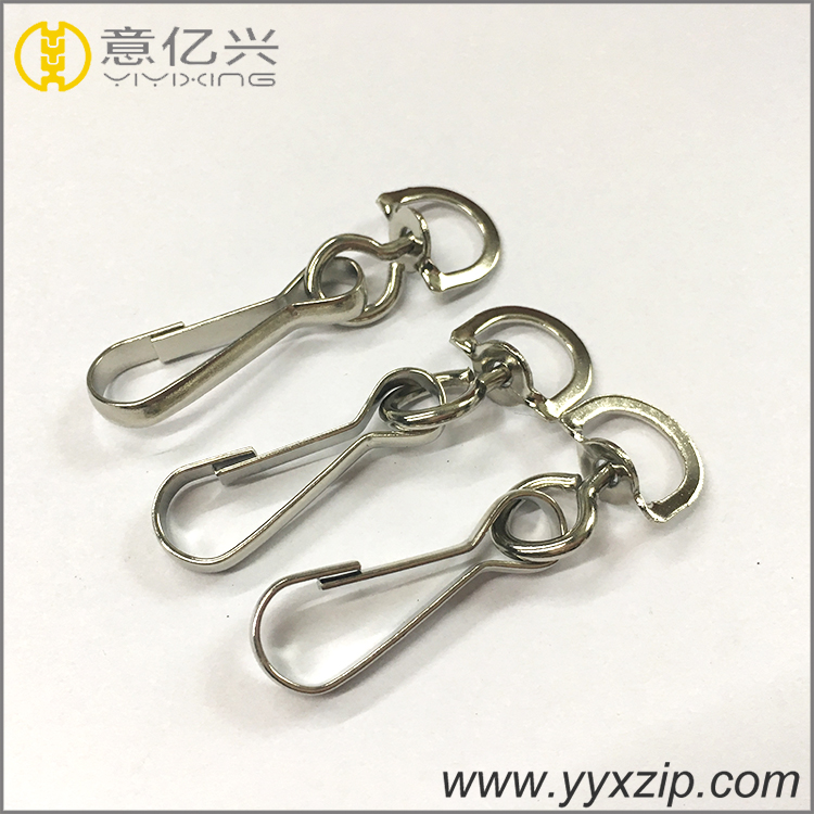 silver metal dog hook