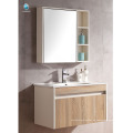 VT-085 Kleine Badezimmer-Waschtischschrank Badezimmer zu Hause verwendet Holz Badezimmerschränke mit einfarbigen