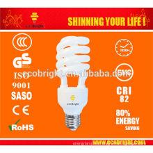 T4 semi-espiral energía 25W lámpara 10000H CE calidad