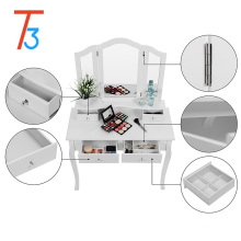 modern white mirror drawers dressing tables bedroom set