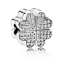 Bijoux en perles en argent 925 en trèfle à quatre feuilles pour bracelet européen