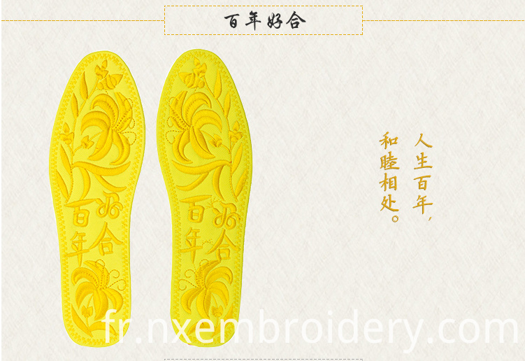 Hand Embroidered insole