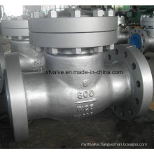 600lb Industrial Usage Cast Steel Flange End Swing Check Valve