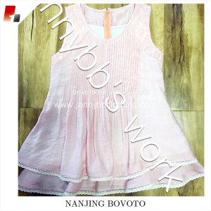 High quality pleated front stocked pink dress