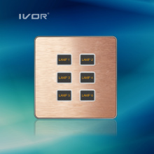 1-6 Gangs Lighting Switch Touch Panel Aluminum Alloy Material (AD-ST1000K-CAN)