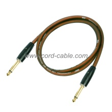 DFS Series Professional Instrument Guitar Cable Jack to Jack Brown