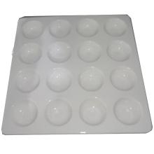 Bandeja quadrada de bandeja de ovos branco cerâmico-16