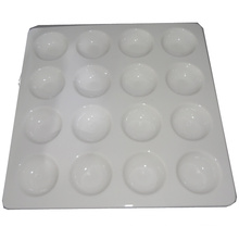 Square Ceramic White Egg Tray-16 Tray