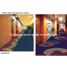 Máquina hecha de Wilton de pared a pared Hotel Carpet Roll
