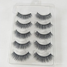 5 pair Free samples custom private label human hair cheap sale colorful false eyelashes