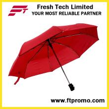 Personalizado promocional auto abierto / cerrado plegable paraguas con logotipo