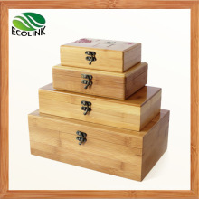 Natural Bamboo Storage Boxes / Storage Bin with Lid