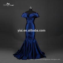 TE002 Prom Dress Taffeta Fabric Royal Blue Mermaid Bodycon Dress Pattern