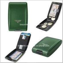 Presentes de Ano Novo Metal Card Case, Multi Function Card Case