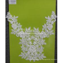 Lindo tecido de marfim com pérolas de tecido de renda rosa para o vestido de casamento nupcial CMC491B