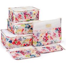 Packing Cube 6 Set Organizador de equipaje de viaje ligero con cremalleras duraderas