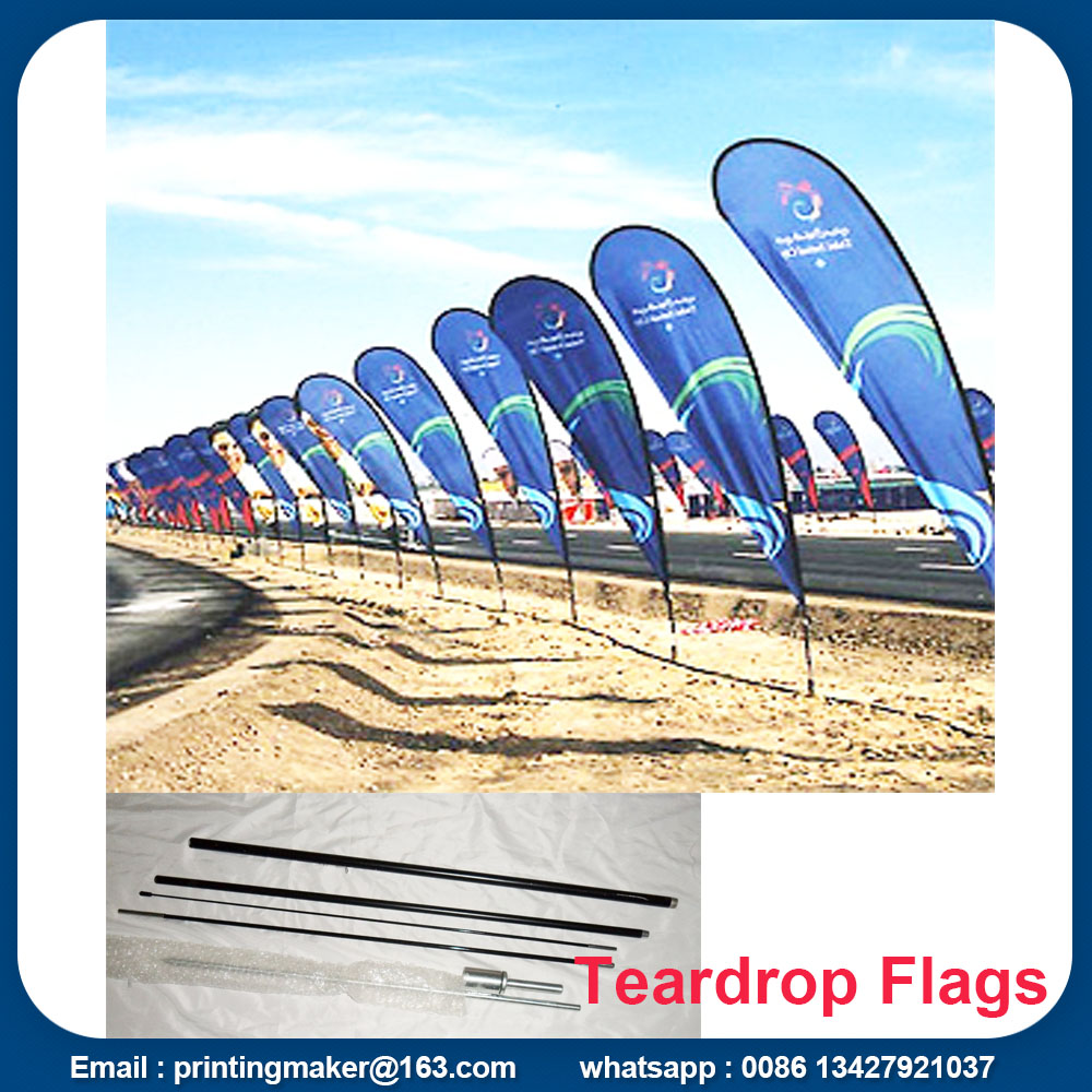 teardrop flying banner