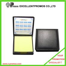 Logotipo promocional Nota adhesiva personalizada con cubierta de cuero (EP-H9129)