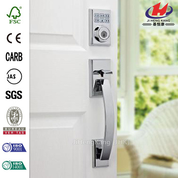 Single Cylinder Polished Chrome Electronic Deadbolt