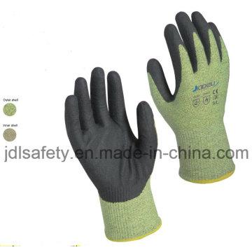 Guante de trabajo protección destello de arco con espuma de nitrilo sumergir (D5206)
