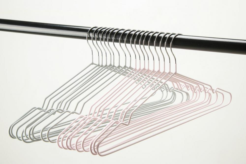 Metal Wire Hangers PVC Shiny Finish