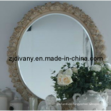 French Style Wooden Frame Decorative Mirror (2603)