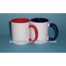 Haonai 2014 fine 11oz colors inside ceramic mug