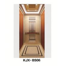 Villa Ascensor con espejo acabado de acero inoxidable (KJX-BS06)