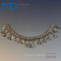Schuh dekorative Kette Zubehör mit Schnee Form Anhänger und Kristall Perlen für Damen Sommer Sandalen und Hausschuhe