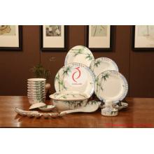 Täglich verwendetes luxuriöses Porzellan-Tafelgeschirr, blaues und weißes keramisches Dinnerset-Tafelgeschirr, Luxuxgeschirr
