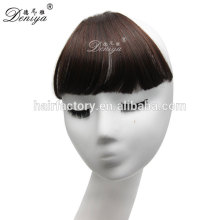 Fashion neat bang easy clip in hair bang hot selling synthetic fringe