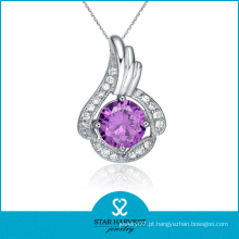 Venda Por Atacado Fine Silver CZ Jewelry Pendant (SH-N0054)