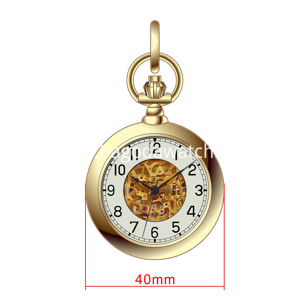 Gold automatic pocket watch