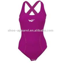 Swimwear competitivo com desconto personalizado para mulheres, maiô feminino