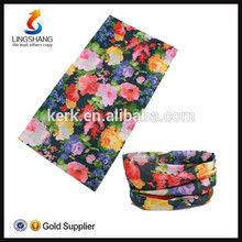 Flower Seamless Neck Tube multifunções Headwear Bandana