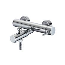 Excellent Quality Durable Brass Bath Faucet, Round Chrome Bath Shower Mixer Tap