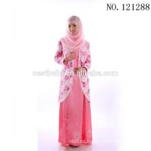 Stock Fabricante China Oriente Medio Africano Dubai musulmanes Vestido de novia Vestido maxi Musulmanes de manga larga