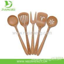 Natural Healthy Long-handled Wooden Spoon