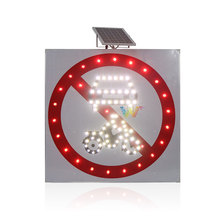 Solar power LED Flashing road safety Traffic signs
