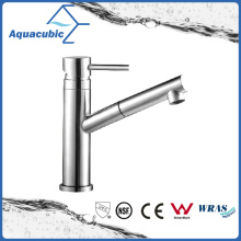 Kitchen Sink Pull out Single Handle Faucet (AF8061-6SS)