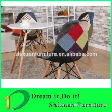 popular beautiful fabric living room wood chair