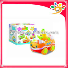 Cute Fruit Car Cartoon Pear Car Plastic B/O Bump & Go Cartoon Car Toys Car Toys With Light And Music For Kids