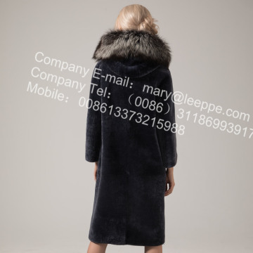 Australie Lady Long Manteau En Peau De Mouton