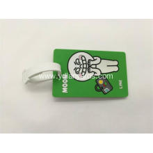 Silicone PVC Rubber Luggage Tags For Souvenir