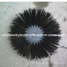 PP Material Black Round Road Brush (YY-019)