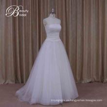 Poppular A Line New Design Vestido de novia largo con desmontable