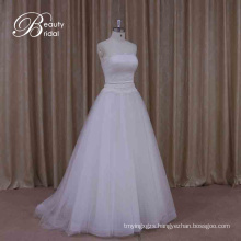 Poppular A Line New Design Long Wedding Dress with Detachable