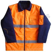EN471 impermeável jaqueta de bombardeiro de alta visibilidade, jaquetas de parka reflectoras