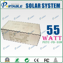 55W Solar Power System for Home and Outside Use Mini Projects Solar Power Systems with AC110V~260V and DC12V